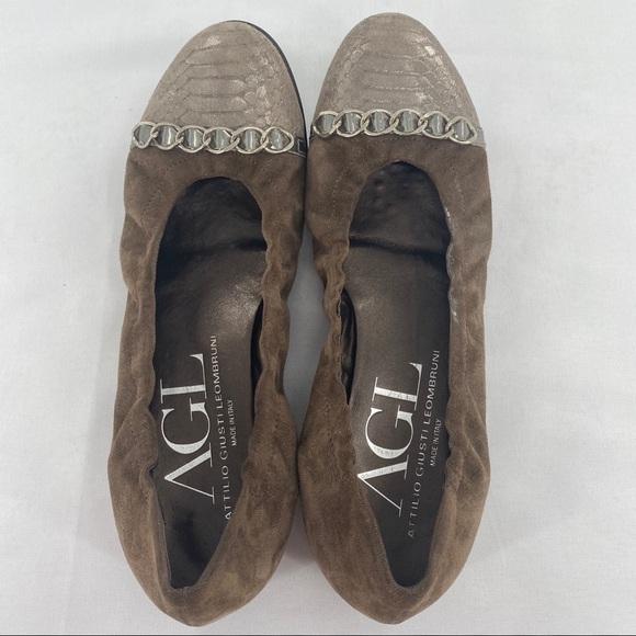 Agl Shoes   Agl Nude Flats Womens Sz 38   Poshmark